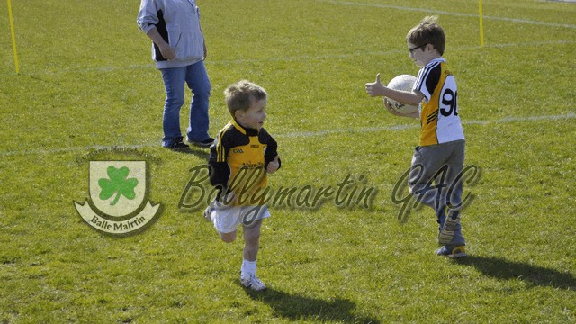 RESPECT - Darragh Kerr fist passed the ball to Eoin Ward - thumbs up