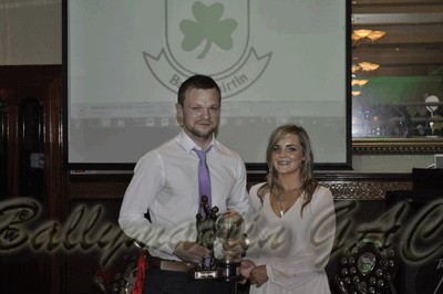 Ballymartin GAC Senior Player of the Year; Adrian Doran received the Michael Greene Trophy