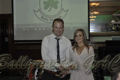 Ballymartin GAC Senior Runner-Up Player of the Year; James Doran